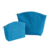 Ballard Jute Cosmetic Bags - Set of 2