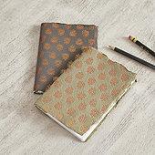 Block Print Notebooks - Set of 2