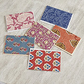 Block Print Notecards - Set of 6