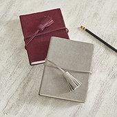 Suede Glitter Notebook