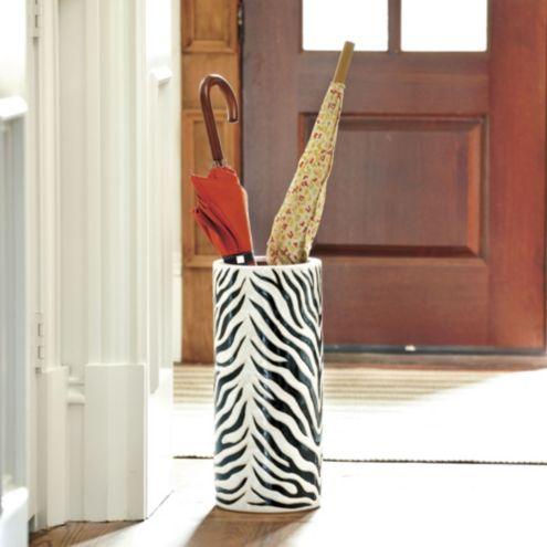 Zebra Umbrella Stand Home Accessories Ballard Designs
