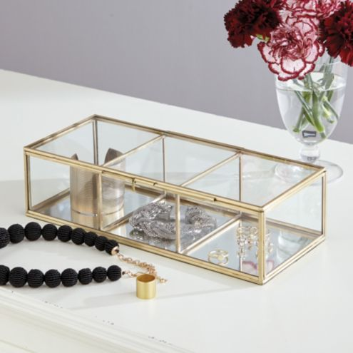 Monroe Glass Jewelry Box