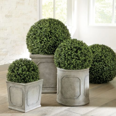 Faux Boxwood Balls