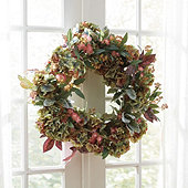 Faux Floral Hydrangea Wreath