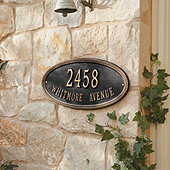Beaded Oval Wall Address Signs