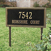 Beaded Rectangle Lawn Address Signs