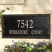 Beaded Rectangle Wall Address Signs