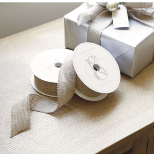 Suzanne Kasler Burlap Ribbon - Set of 2