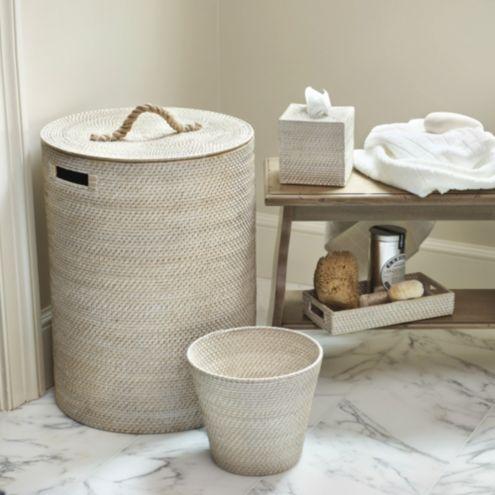 Woven Rattan Waste Basket Ballard Designs