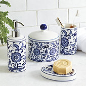 Blue & White Bath Collection