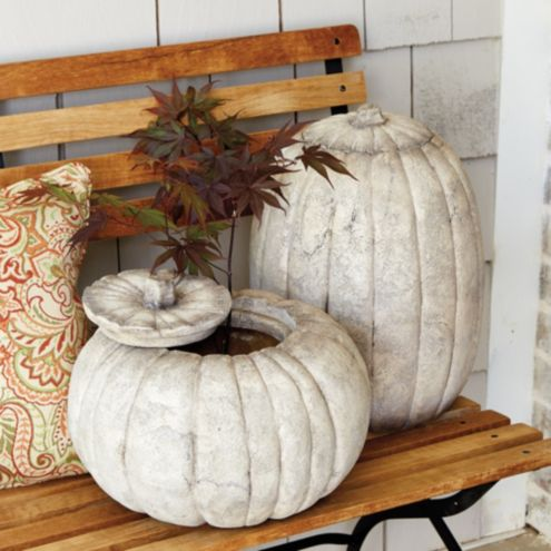 Outdoor Stone Pumpkins