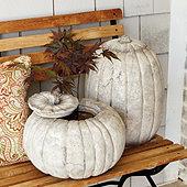 Outdoor Stone Pumpkins