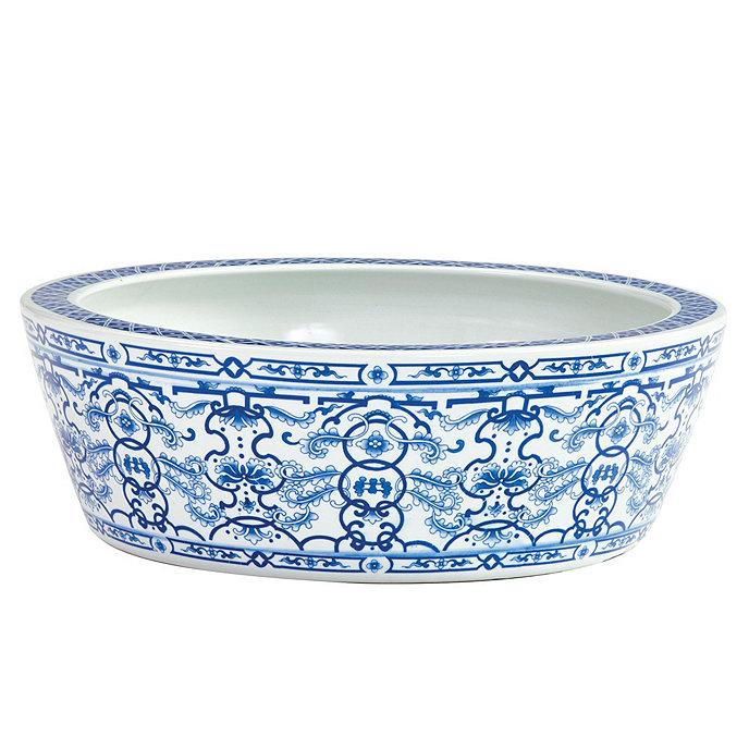 Blue White Chinoiserie Planter Ballard Designs Ballard Designs