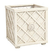 Abeille Trellis Planter - Antique White