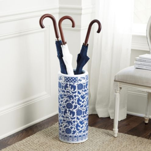 Blue & White Porcelain Umbrella Holder