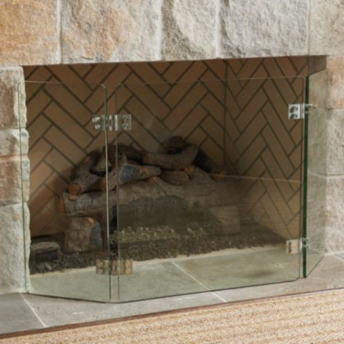 Miles Redd Glass Deco Fireplace Screen