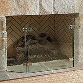 Miles Redd Glass Deco Fireplace Screen