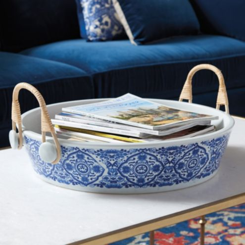 Blue & White Chinoiserie Tray