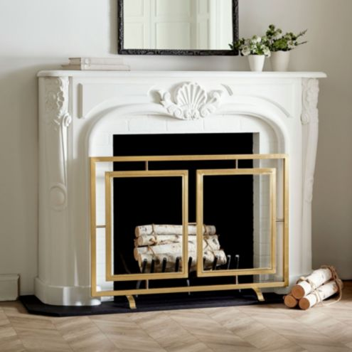 Celeste Glass Fireplace Screen