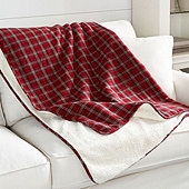 Plaid Sherpa Pet Blanket