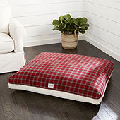 Plaid Sherpa Pet Bed