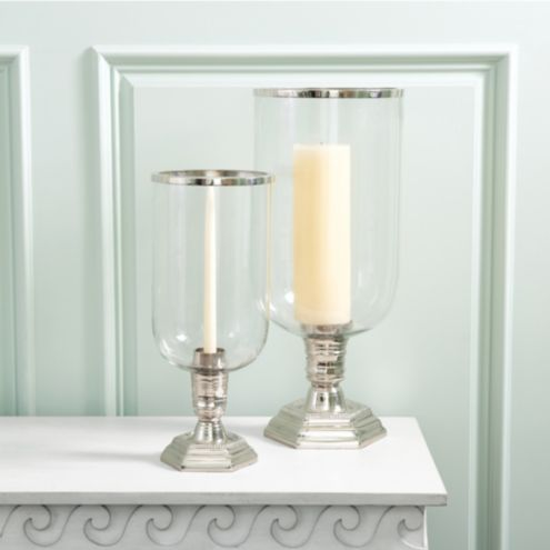Miles Redd Grand Glass Hurricane Candle Holder
