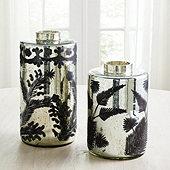 Mercury Glass Fern Vases