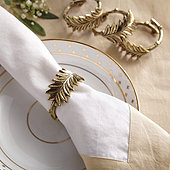 Winter Greenery Napkin Rings - Set of 4
