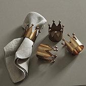 Crown Napkin Rings - Set of 4