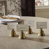 Vintage Bell Place Card Holders - Set of 4