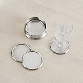 Pewter Coasters - Set of 4