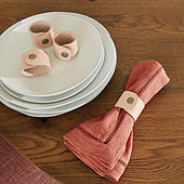 Leather Napkin Rings - Set of 4