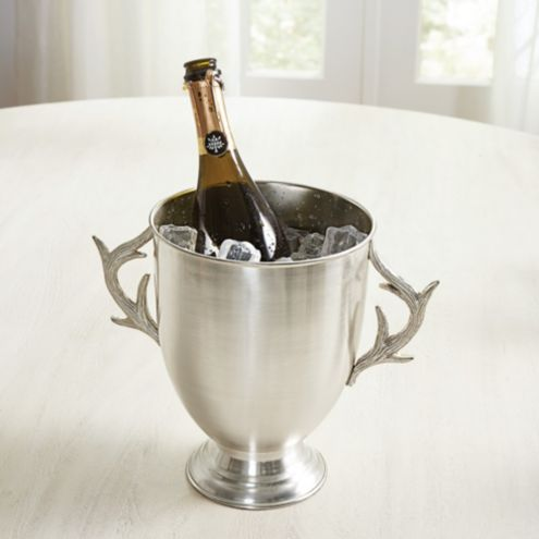 Antler Silver Ice Bucket