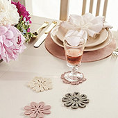 Maribel Felt Floral Coasters - Set of 4