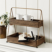 Becca Rustic 2 Tiered Stand