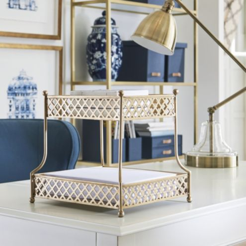 Celine 2 Tiered Brass Stand