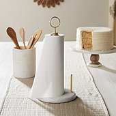 Hampton Marble & Wood Paper Towel Holder