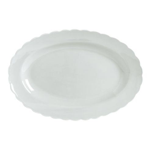 Laurier Oval Serving Platter Cream