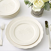 Embossed Pinecone Accent Plates - Set of 4