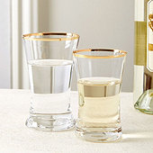 Bunny Williams Gold Rimmed Glassware - Set of 4