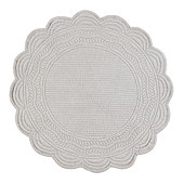 Marseille Quilted S/4 Placemats Round - Select Colors