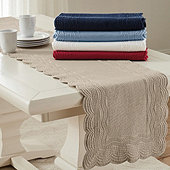 Marseille Quilted Linen Table Runner
