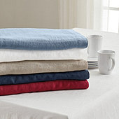 90 Round Linen Tablecloth