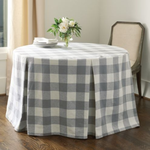 Buffalo Check Paneled Tablecloth - Select Colors &