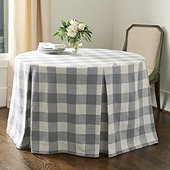 Buffalo Check Paneled Tablecloth - Select Colors & Sizes