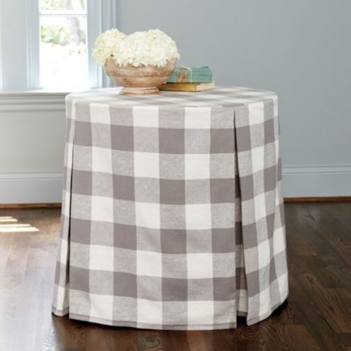 Buffalo Check Paneled Tablecloth Spa 96