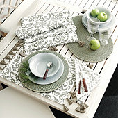 Zoey Ikat Table Linens
