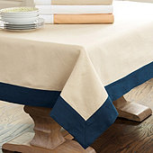 Bunny Williams Banded Rectangular Tablecloth -  Select Colors