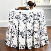 Wide Pleat Tablecloth