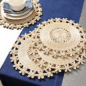 Tulum Scalloped Woven Placemats - Set of 4